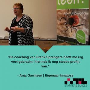 Anja Garritsen van Innatoss vertelt haar verhaal